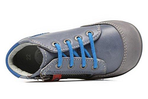 Kickers bi free bleu et gris