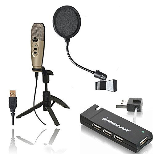 CAD U37 USB Studio Condenser Recording Microphone with Pop F