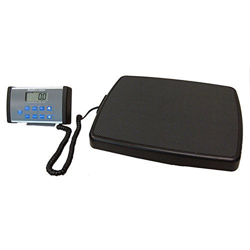 Health O Meter 498KL Digital Scale, Remote Display, Stand-On, Capacity 500 lb, Resolution 0.2 lb./0.1kg, 13-3/4