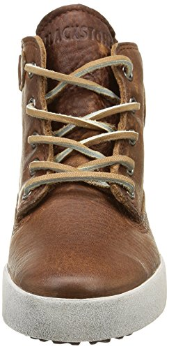 Blackstone Worker On Foxing Ck02, Unisex-Kinder Hohe Sneakers Braun (old Yellow)
