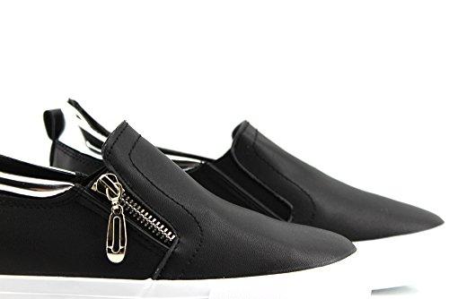 Modelisa - Zapatillas Cremallera Elastico Mujer NEGRO