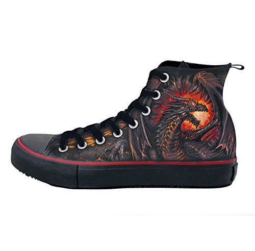 Spirale Dragon Furnace - Sneakers - Herren High Top Laceup, Tasche, 2 Sets Schnürsenkel