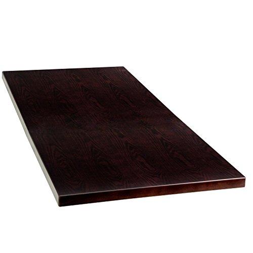 45' Rectangular Table Top (BBD 24'' x 45'' Rectangular Walnut Veneer Table Top)