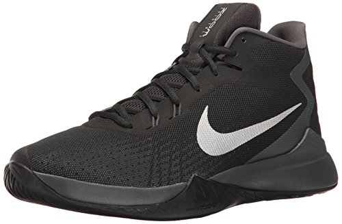 NIKE Men's Zoom Evidence Basketball Shoe, Black/Metallic Silver/Anthracite, 8.5 D(M) US