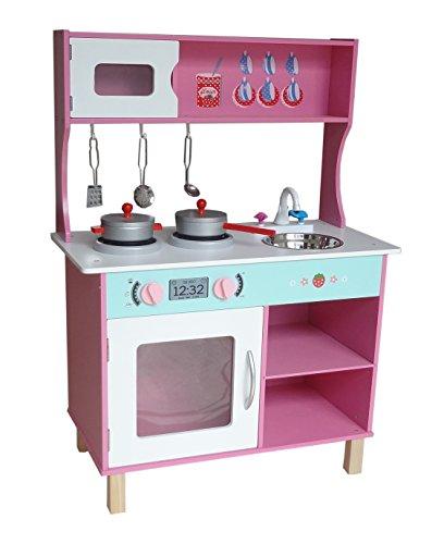 Kiddi Style Large Modern Wooden Kitchen & Accessories - Pink
