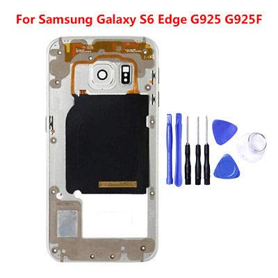 ng Galaxy S6 Edge/Plus Mid Housing Bezel Middle Frame Assembly+ Tools White for Samsung Galaxy S6 Edge Plus ()