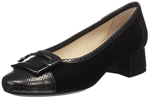 DCHICAS Women's 4328 Closed Toe Heels Black (Black 01) 1eL9WJ