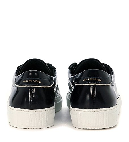 Philippe Model Sneaker Avenir Low in Pelle Spazzolata Blu Blu