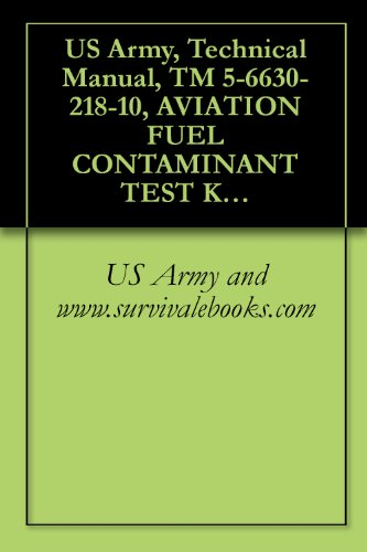 US Army, Technical Manual, TM 5-6630-218-10, AVIATION FUEL CONTAMINANT TEST KIT, (NSN 6630-01-008-5524)