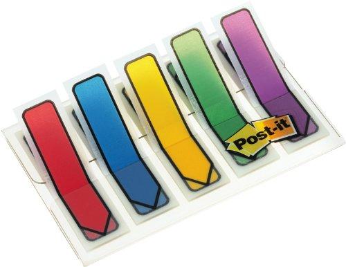 37 opinioni per Post-it Brand 90843 Miniset 100 Segnapagina Frecce in 5 Colori Classici, 12 mm x