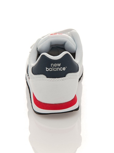 New Balance - Zapatillas de Piel para niño Blanco Bianco/Blu/Rosso