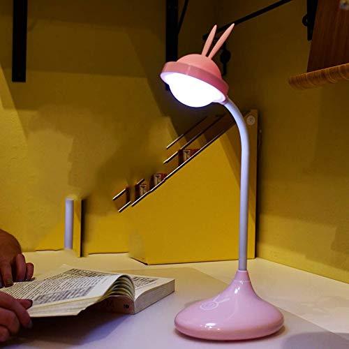 Ehime Lámpara de mesa táctil Lámpara de conejo lindo Lámpara de ...