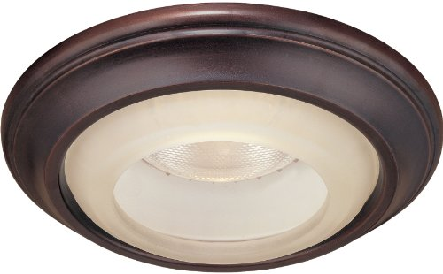 Minka Lavery 2718-167, 1730 Series 6 inch Round Glass Recessed Trim, 50 Total Watts Halogen, Lathan Bronze (Series Traditional Finial)