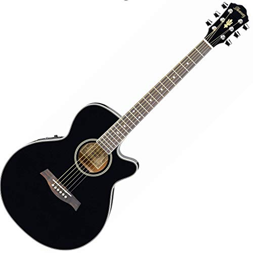 Ibanez-AEG8E-BK-Acoustic-Guitar-Single-Cutaway-Black
