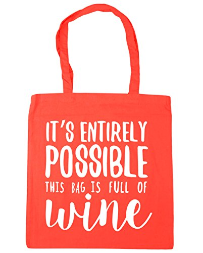 Gym Bag this wine It's possible entirely litres bag Beach Coral of Shopping is full x38cm 10 42cm HippoWarehouse Tote 4qRB8PWn4