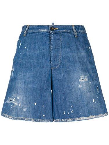 DSQUARED2 Women's S72MU0265S30341470 Blue Cotton Shorts