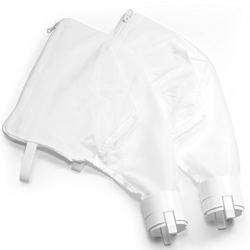 360 & 380 Premium Compatible Zipper Replacement Bags (2 pack) by Aquatix Pro, Heavy Duty Pool Vacuum Cleaner / Filter Parts, Easy to Install Leaf Bags, Damage Free Enclosure, 1 Year Warranty!