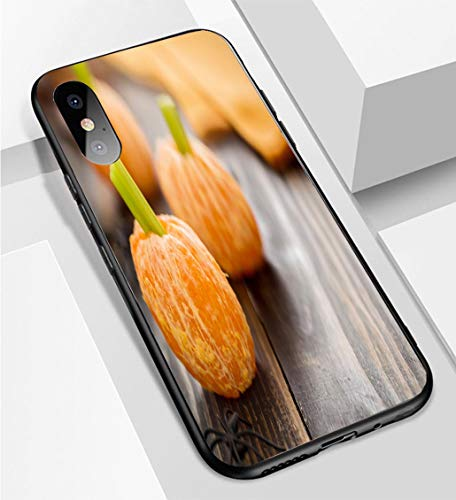 iPhone X/XS Ultra-Thin Phone case Healthy Halloween Food Tangerine Pumpkins Snack Kids Anti-Drop Anti-Slip Soft Convenient Protective Shell -