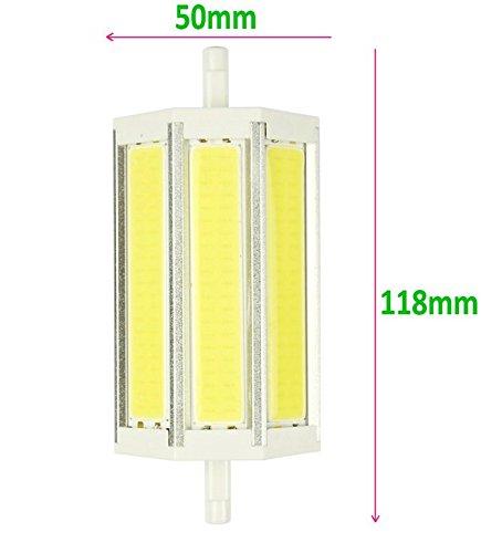 JKLcom R7S COB LED Bulbs R7S 118mm 15W Not Dimmable COB Light Floodlight Double Ended j Type Tungsten Halogen Bulb Replacement (Daylight White) by JKLcom (Image #5)