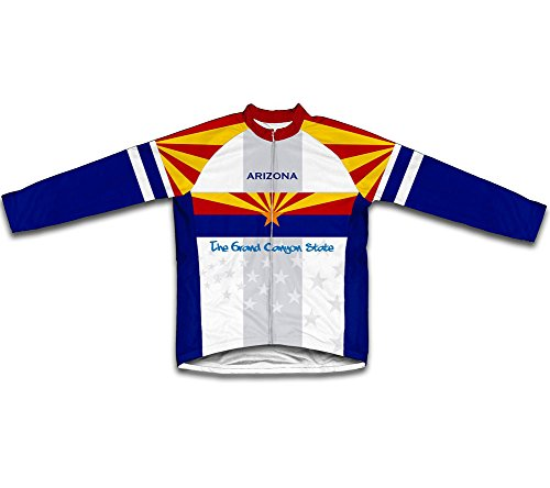 ScudoPro Arizona Flag Long Sleeve Cycling Jersey for Men - Size L