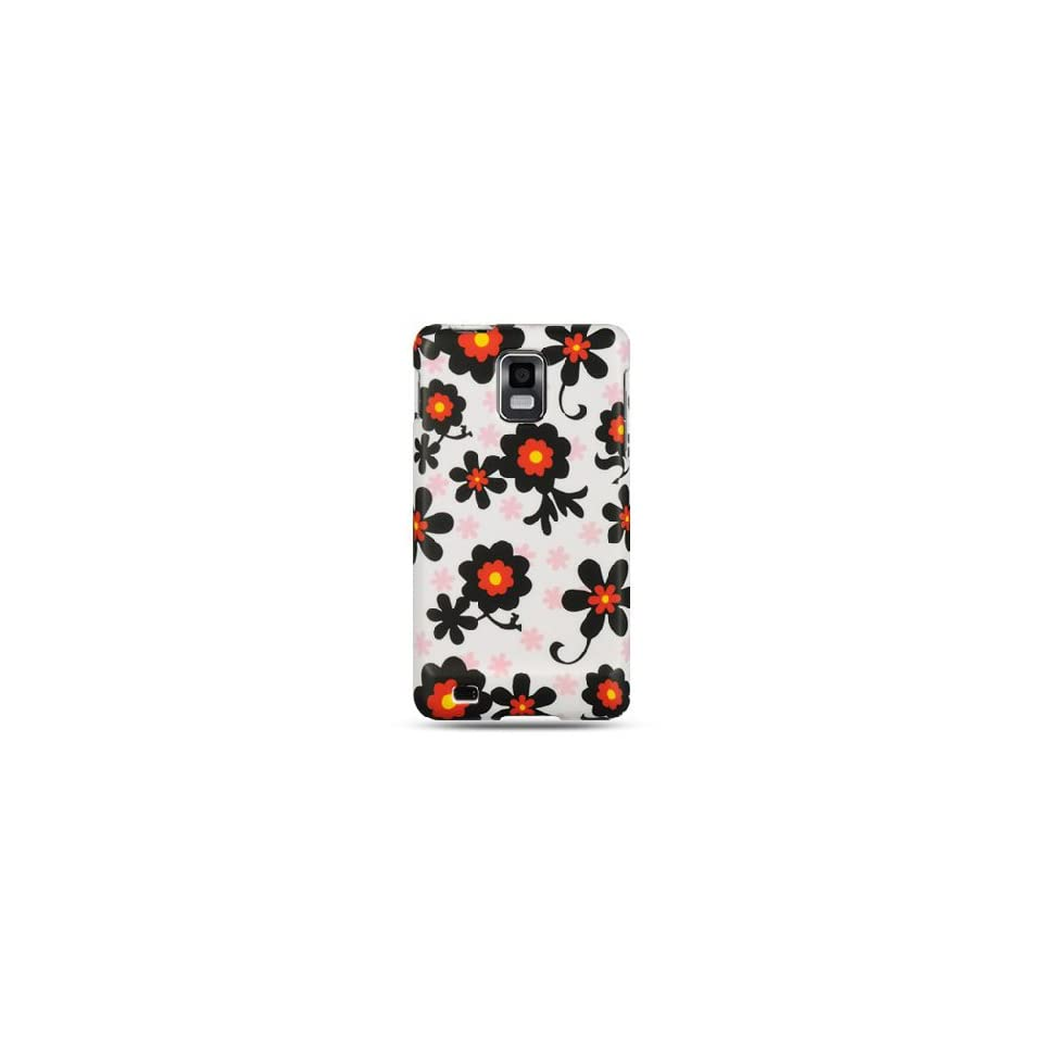 White Daisies Flower Hard Cover Case for Samsung Infuse 4G SGH I997 Cell Phones & Accessories