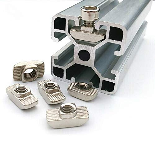 1.52g // One 20 Series T Slot Aluminum Extrusion 100, M3 ZQLR New Heavy Duty Sliding T Nut M3 M4 M5 for 2020