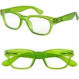 I NEED YOU Designer Woody Blue Reading Glasses
