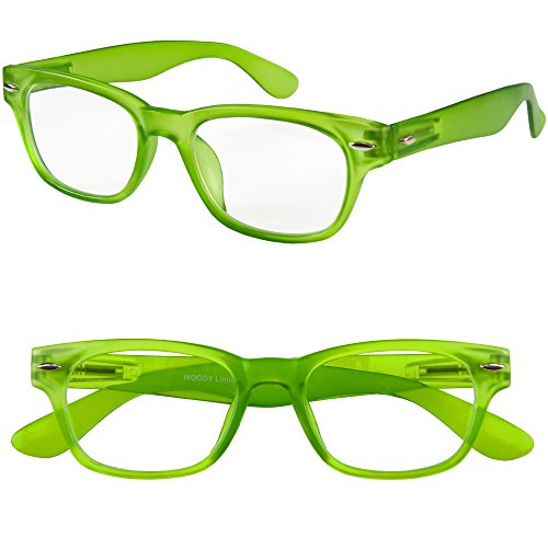 I Need You Readers Green Woody Classic Style Reading Glasses  2 5 Strength Choose Your Power