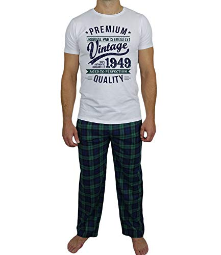 Perfection Vintage 70 My Di Anni Compleanno To Year Tartan Aged Per Uomo Generation Verde Regalo 1949 Pigiami Presenti set Pyjamas qF0Ft
