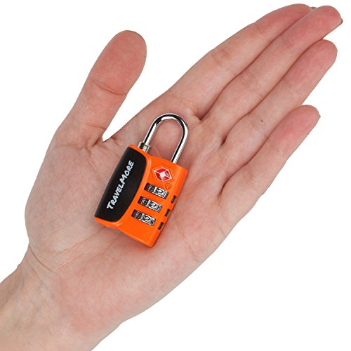 Black 6 Pack Open Alert Indicator TSA Approved 3 Digit Luggage Locks for Travel Suitcase /& Baggage TravelMore