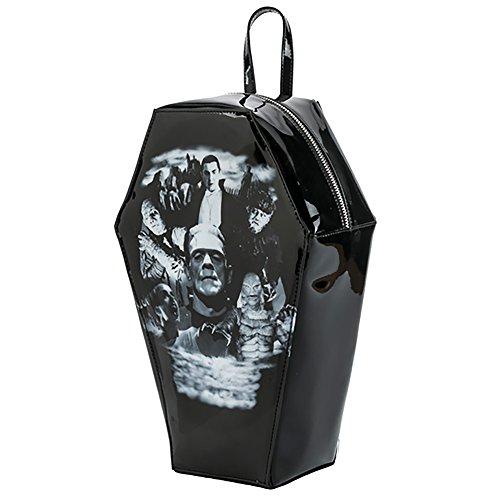 Universal Monsters Collage Coffin Backpack Handbag Purse Dracula Frankenstein -