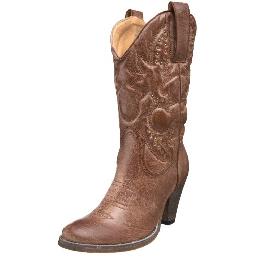 (Volatile Women's Denver Boot,Tan,7 M US )