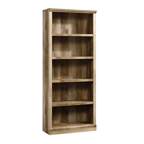 Sauder 417223 East Canyon 5 Shelf Bookcase, L: 29.29 x W: 13.39 x H: 71.02, Craftsman Oak finish