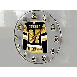 FanPlastic Sidney Crosby 87 Pittsburgh Penguins Wall Clock - ICE Hockey League Legends Edition !!