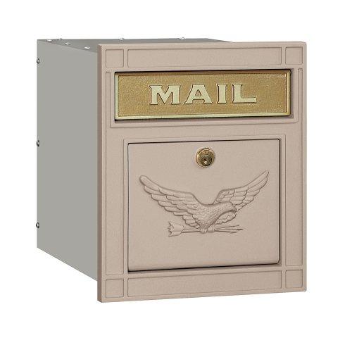 Salsbury Industries 4145E-BGE Cast Aluminum Column Mailbox Locking Eagle Door, (Column Mailbox)