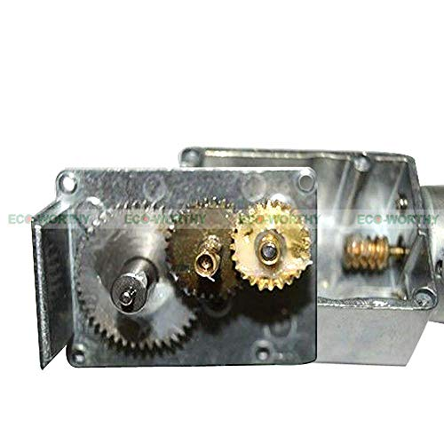 Davitu Speed Reducers - 12Volt DC 40rpm Mini Electric Metal Gear Motor Gear Wheel Speed Reduce Door ()
