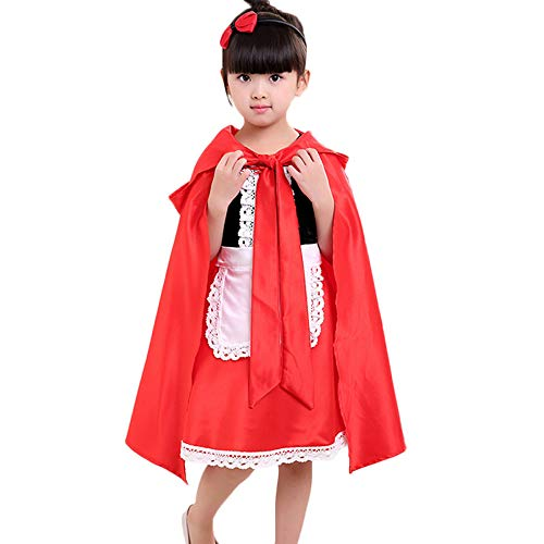 iLOOSKR Toddler Kids Baby Girls Halloween Short Sleeve Clothes Costume Dress Party Dresses Cloak Red