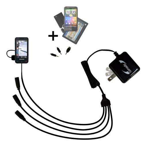 Compact Tabletop Multi-port wall charger bundled with fli...