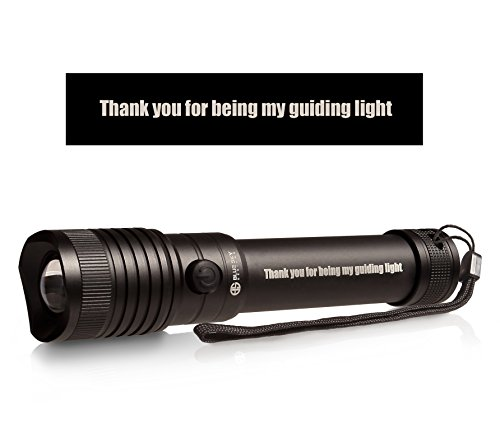Engraved Gift for that special person | 3 in 1 LED Flashlight | Magnetic base, Nylon Holster, Lanyard, and Batteries | by Blue Sky Designs