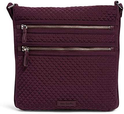 Vera Bradley Triple Zip Microfiber Hipster Women's Crossbody Purse Handbag