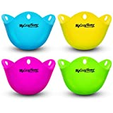 Kitchen & Housewares : Egg Poacher Cups - Premium Silicone Poaching Pods - BPA Free - FDA Approved - For Stovetop or Microwave - Dishwasher Safe - Set of 4 Colorful Pods