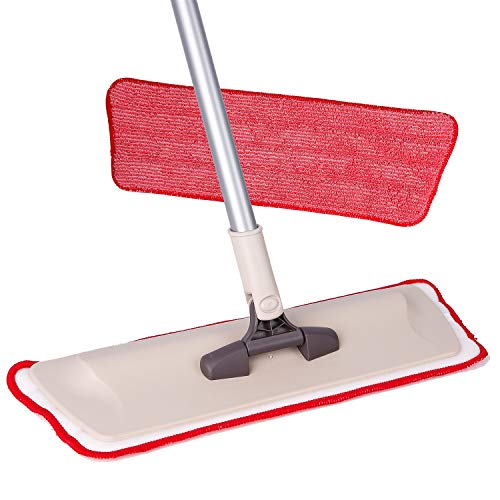 Microfiber Mop Hardwood Floor Cleaning - Washable Pads for Wood, Laminate & Tile - 360 Professional Dry Wet Reusable Mop Pad