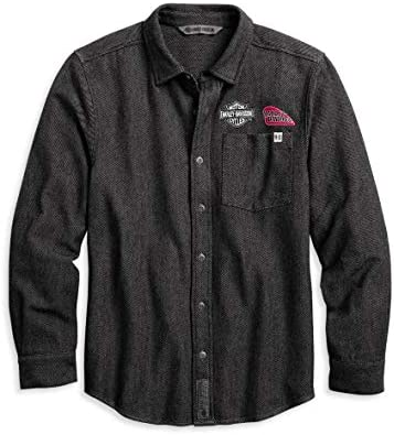 Harley-Davidson Men`s Multi-Patch Button-Down Shirt