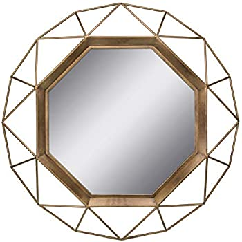 Stonebriar Gold Geometric Wall Mirror, 30 x 30