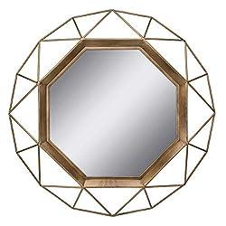 Stonebriar SB-6137A Gold Geometric Wall Mirror, 30...
