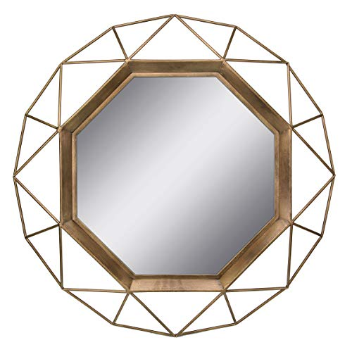 Stonebriar Gold Geometric Wall Mirror, 30 x -