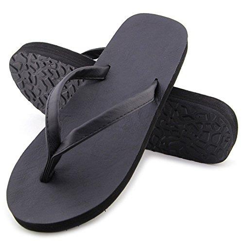 DULEE - Zapatillas de estar por casa para mujer negro