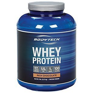 BodyTech Whey Protein Powder with 17 Grams of Protein per Serving Amino Acids Ideal for PostWorkout Muscle Building, Contains Milk Soy Rich Chocolate (5 -