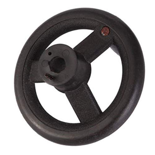 Handwheel | 1pcs Spoke Plastic Handwheel Black Round Rear Hand Wheel Grinding Revolving Handle for Lathe Milling Machine | by SH Bab