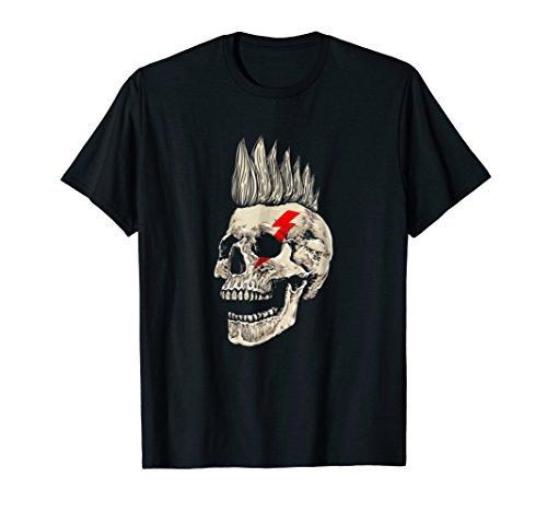 Punk Rock Shirt - Punks Not Dead Skull Mohawk Style T-Shirt -